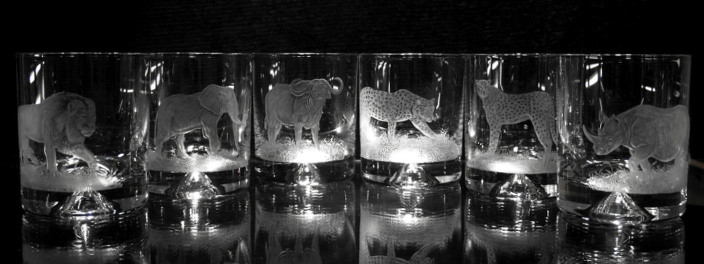 African Crystal Spirit Glasses