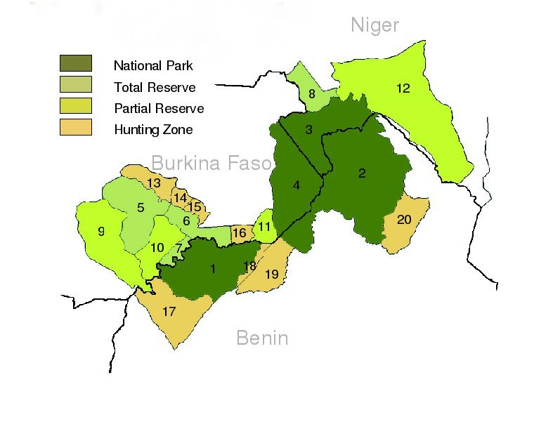 Benin Hunting Areas