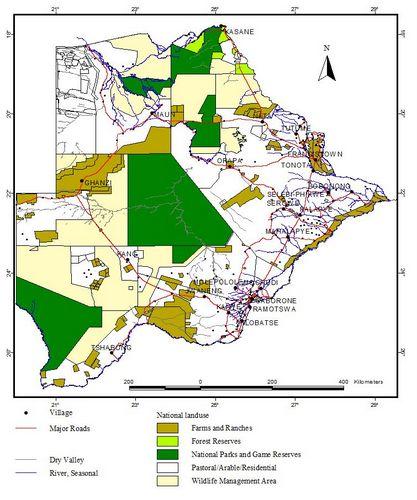 Botswana Hunting Areas