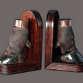 Cape Buffalo Hoof Book-Ends