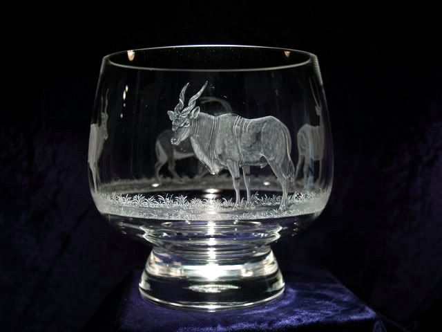 Crystal Bowl with Eland