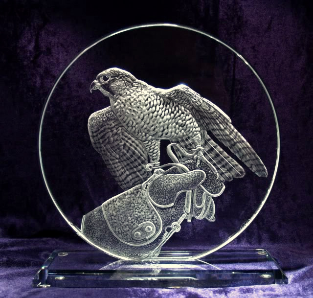 Crystal Circle with Falcon