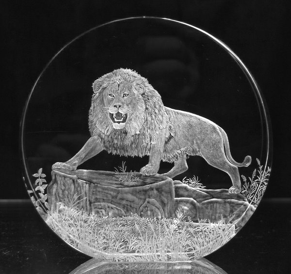 Crystal Circle with Lion