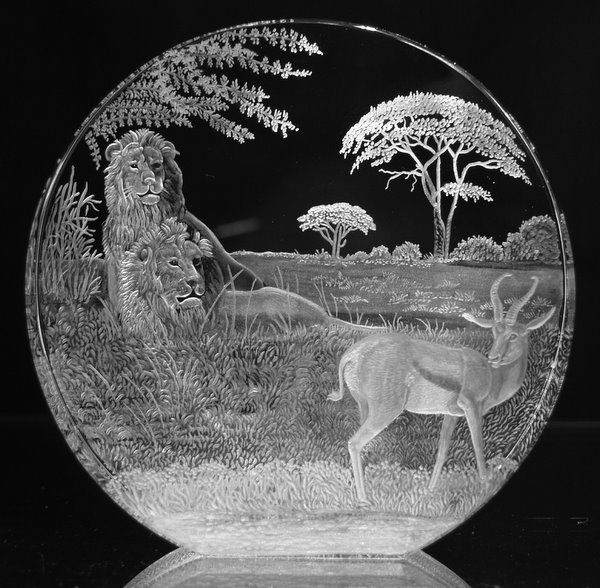 Crystal Circle with Lions