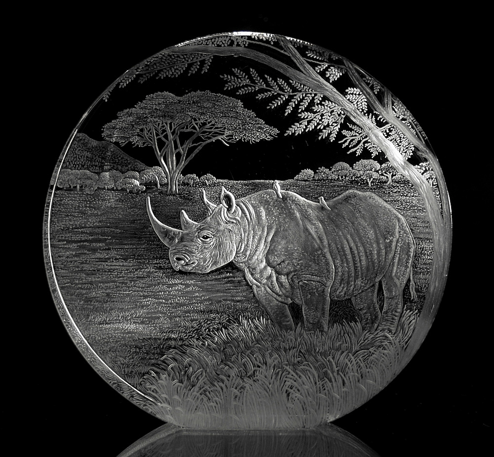 Crystal Circle with Rhino