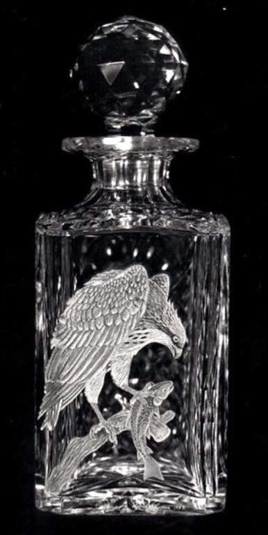 Crystal Decanter with Ospreye