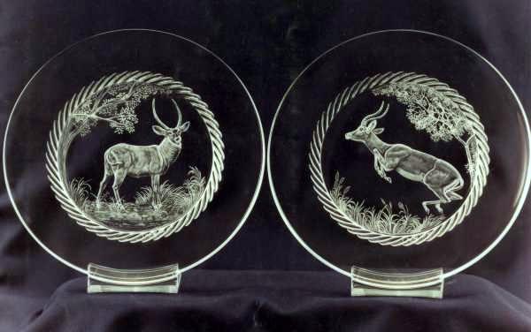 Crystal Plate | Impala & Waterbuck
