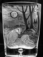 Crystal Vase with Badger