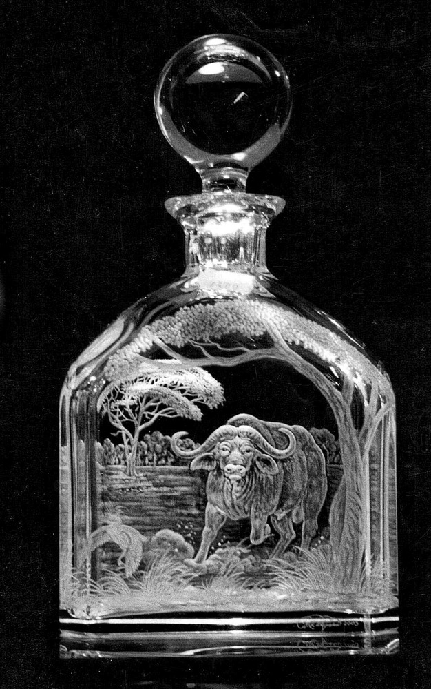Crystal Decanter with Buffalo