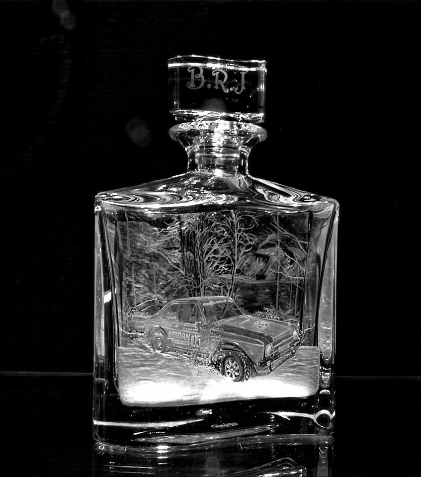 Crystal Decanter with Car