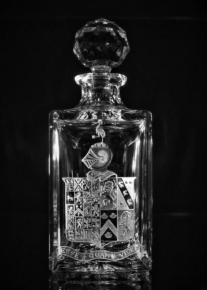 Crystal Decanter with Coat Of Arms