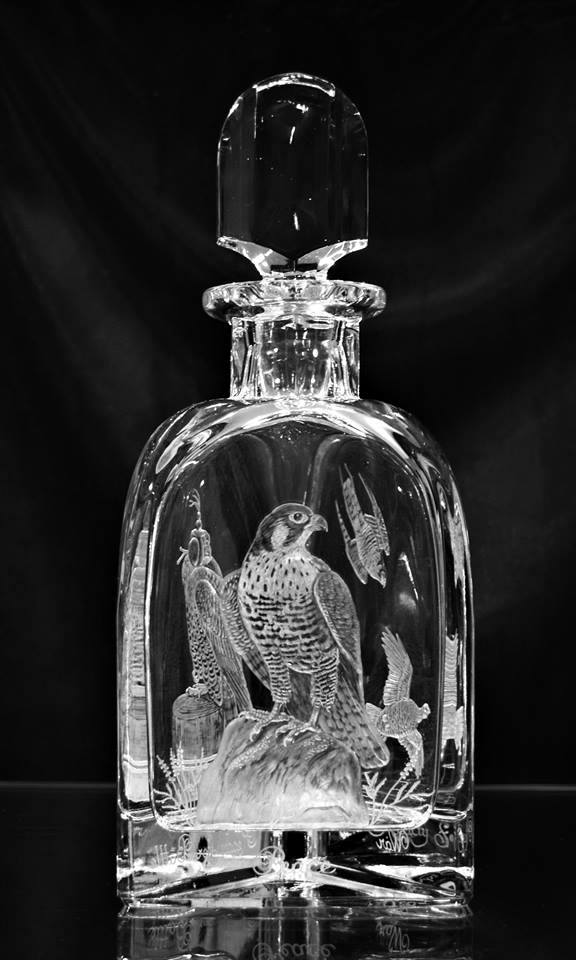 Crystal Decanter with Falcon