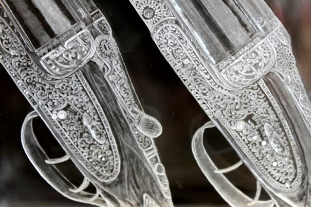 Crystal Decanter with Shotguns
