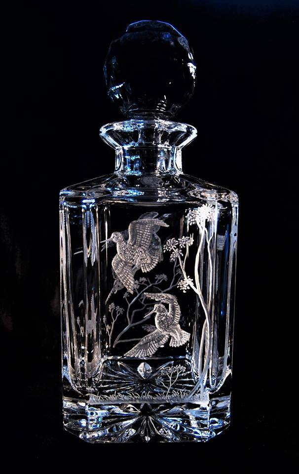 Crystal Decanter with Snipe