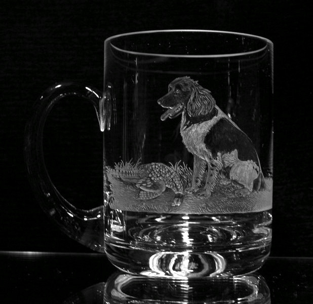 Crystal Glass Dog Portrait
