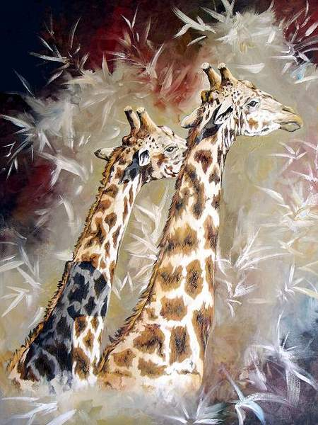 Giraffe Oil Painting