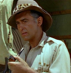 Stewart Granger In Double Terai Hat