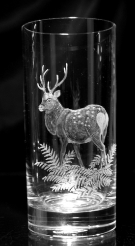 Highball Glass with Deer