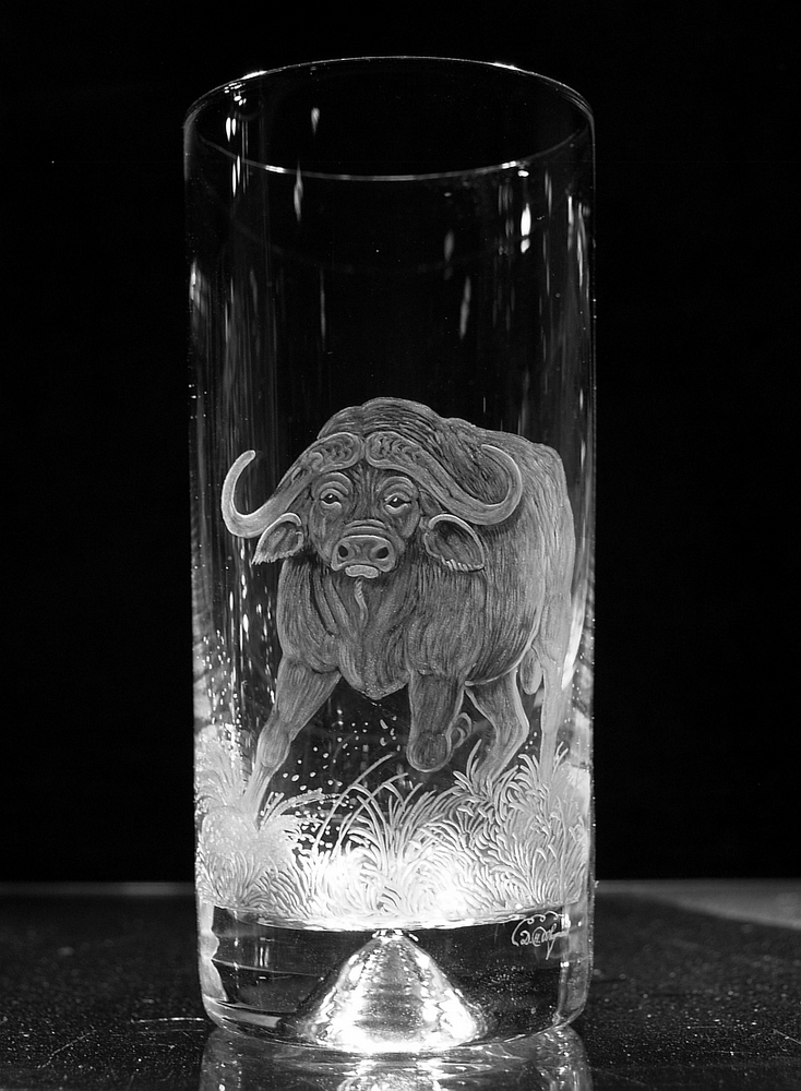 Highball Glass with Buffalo