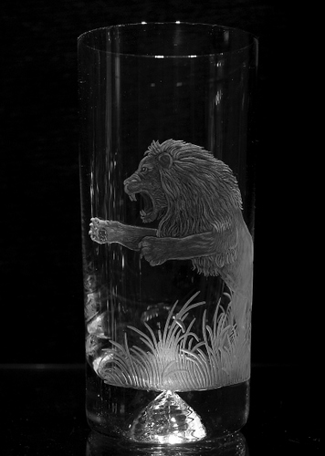 Highball Glass with Lion
