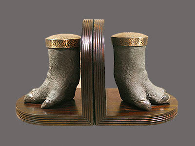 Hippo Foot Bookends
