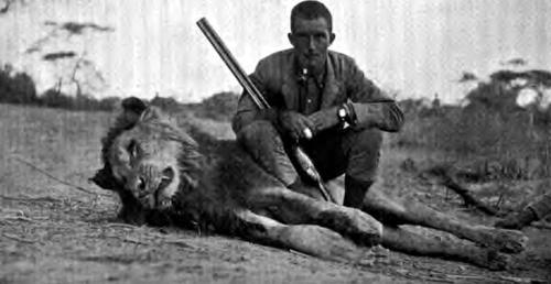 Lieutenant Ogilvy with his lion