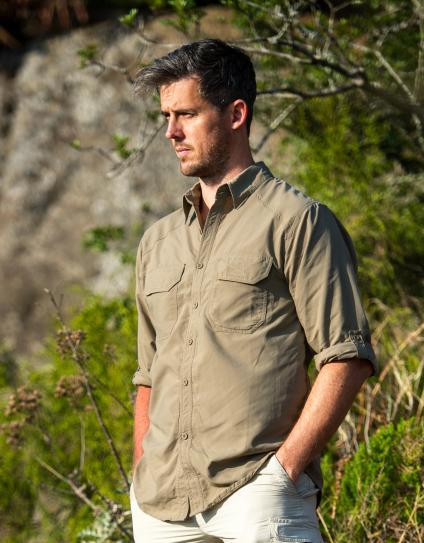 Safari Shirt Cognac Heels: Mens Safari Shop