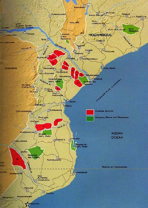 Mozambique Hunting Areas