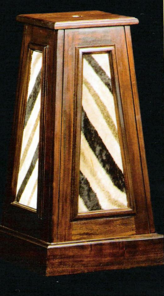 Zebra Skin Pedestal