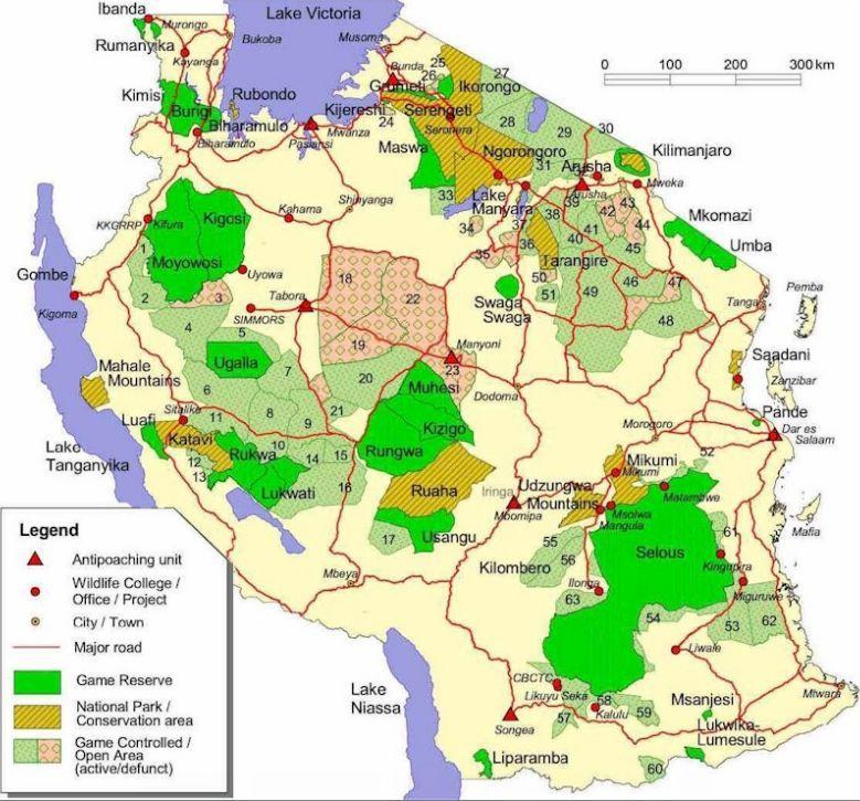 Tanzania Hunting Areas