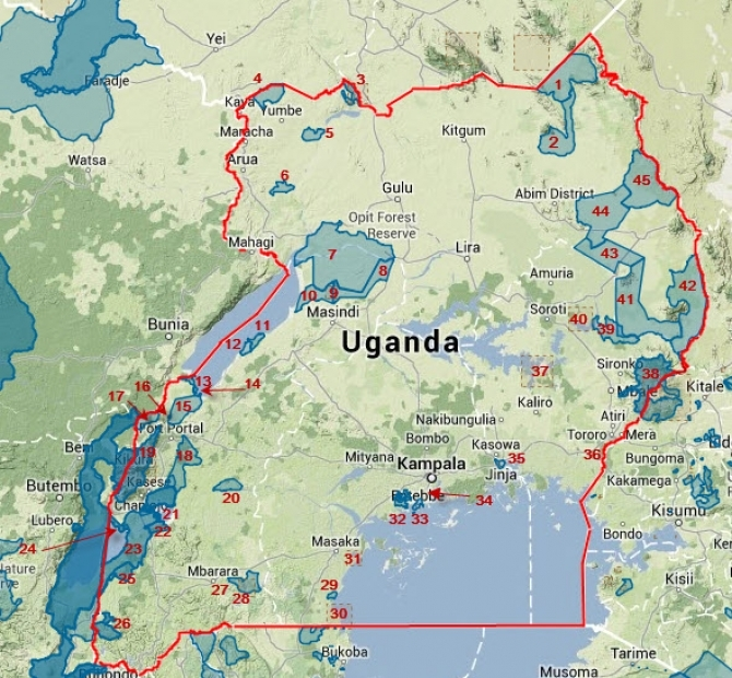 Uganda Hunting Areas