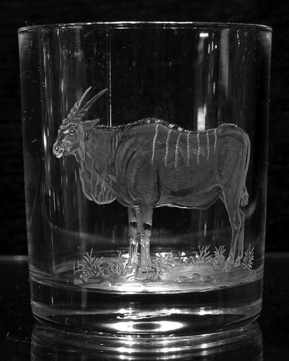 Crystal Glass Tumbler with Eland
