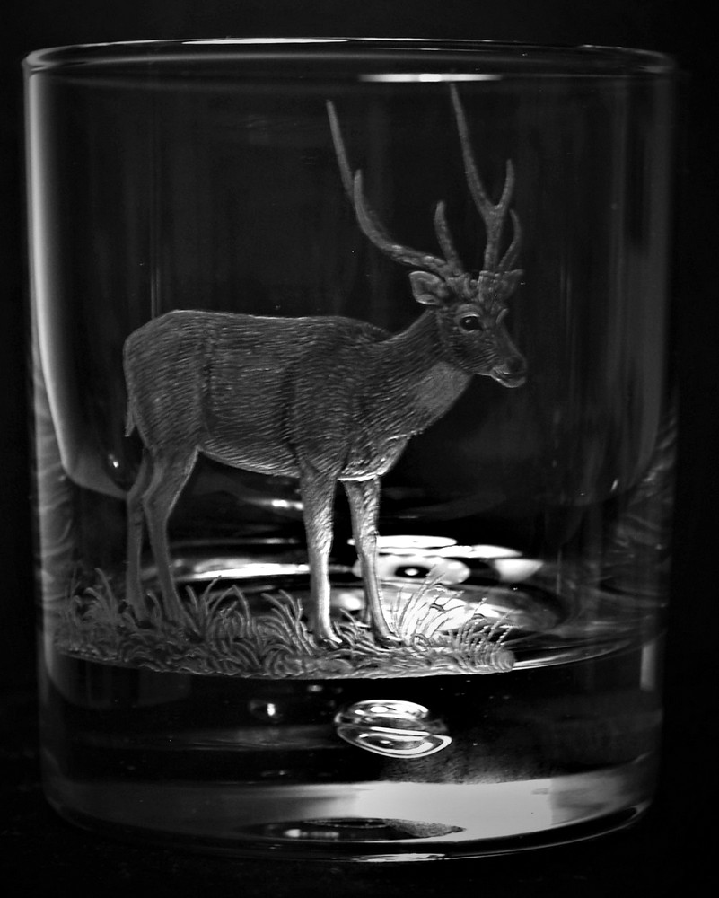Crystal Glass Tumbler with Rusa Deer