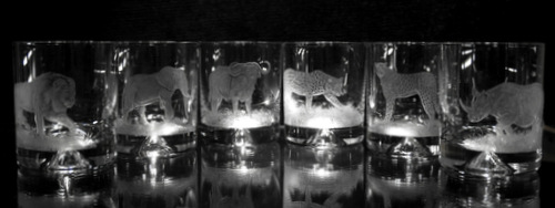 African Crystal Spirit Glasses