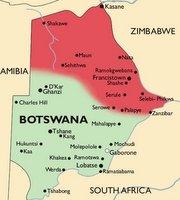 Botswana Malaria Map