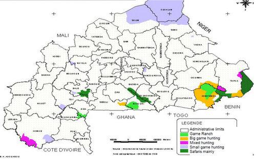 Burkina Faso Hunting Areas