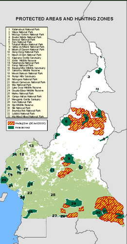 Cameroon Hunting Areas