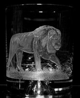 Crystal Whisky Glass with Lion