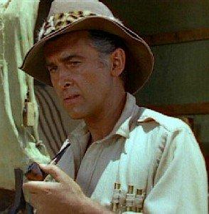 Stewart Granger In Double Terai Hat