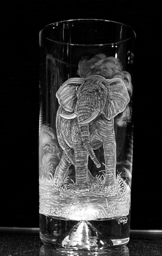 Highball Glass with Elephant