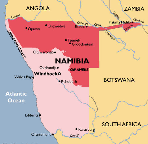 Namibia Malaria Map