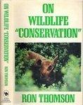 On Wildlife Conservation