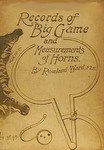 Records Of Big Game 1896