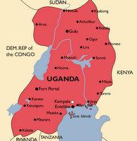 Uganda Malaria Map