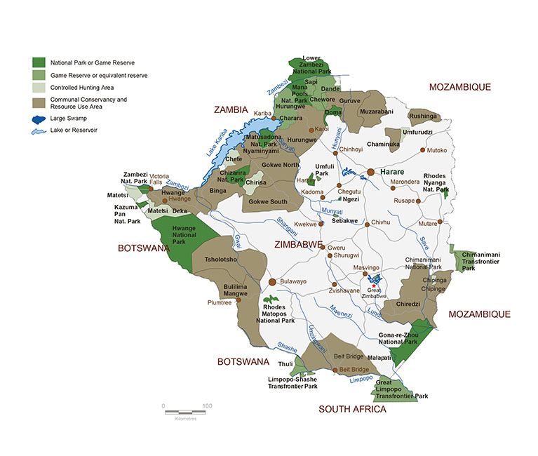 Zimbabwe Hunting Areas