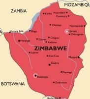 Zimbabwe Malaria Map